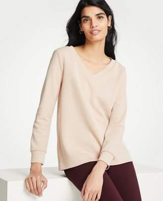 Ann Taylor V-Neck Sweatshirt