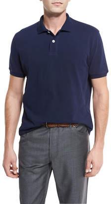 Brunello Cucinelli Pique Polo Shirt, Navy