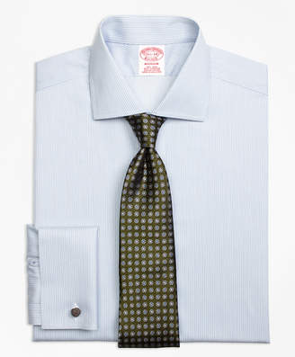 Brooks Brothers Madison Classic-Fit Dress Shirt, Non-Iron French Cuff Framed Stripe