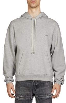 Balenciaga Men's Logo Hoodie - Grey - Size XXS