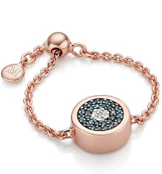 Monica Vinader Evil Eye Friendship Chain Ring with Pave Diamonds