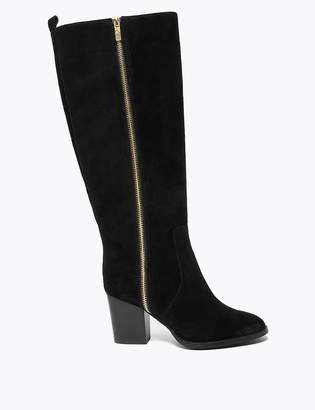 Marks and Spencer Suede Zip Detail Knee High Boots