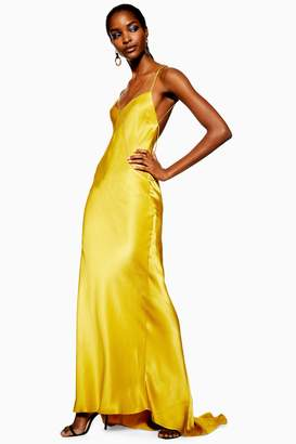 Topshop Satin Chain Maxi Dress
