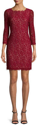 Adrianna Papell Embroidered Lace Dress