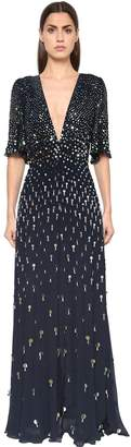 Temperley London Embelliished Georgette Dress