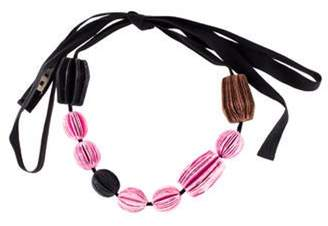 Marni Paper Beaded Necklace Paper Beaded Necklace