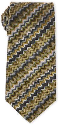 Missoni Olive Zigzag Silk Tie