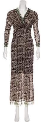Jean Paul Gaultier Printed Midi Dress Brown Printed Midi Dress
