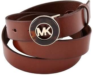 MICHAEL Michael Kors Belt With Tortoise Plaque XL