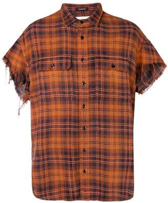 R 13 checked short sleeve shirt