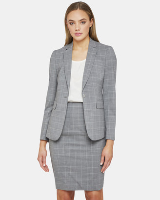 Oxford Alexa Wool Strtch Check Suit Jacket