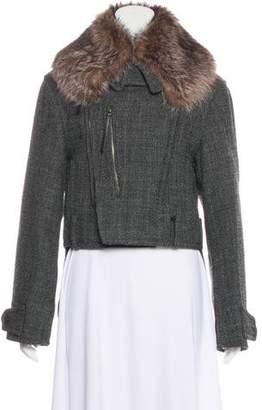 Marni Fur-Trimmed Wool Jacket