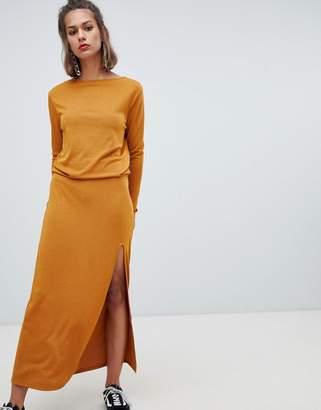 Pull&Bear maxi dress with elastic waist