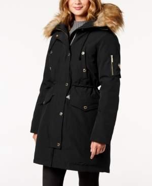 Michael Kors Michael Faux-Fur-Trim Hooded Down Parka Coat