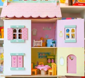 Harmony at Home Children's Eco Boutique Personalised Wooden Girls Dolls House
