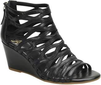 Sofft Leather Gladiator Wedge Sandals - Francesca