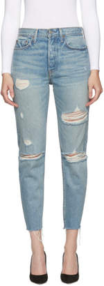 GRLFRND Blue Butt Slit Karolina Jeans