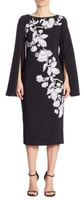 Theia Floral Detailed Dress