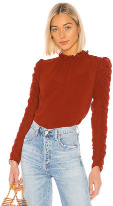 See by Chloe Ruched Long Sleeve Blouse