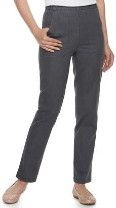 Croft & Barrow Women's Classic Pull-On Tapered-Leg Jeans