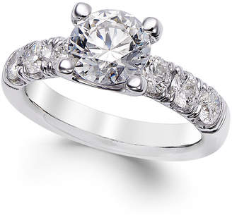 X3 Diamond Engagement Ring (2-1/2 ct. t.w.) in 18k White Gold, Created for Macy's