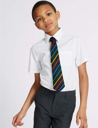 Marks and Spencer 2 Pack Boys' Pure Cotton Non-Iron Shirts