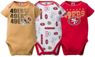 Gerber San Francisco 49ers 3 Pack Creeper Set, Infants (0-9 Months)
