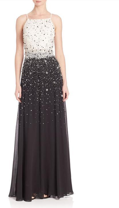 Aidan MattoxAidan Mattox - Beaded Chiffon Long Dress MD2E201123