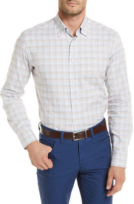 Brioni Plaid Long-Sleeve Shirt, Tan