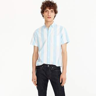 J.Crew Short-sleeve stretch American Pima oxford shirt in blue stripe