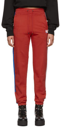 Marcelo Burlon County of Milan Red NBA Edition Band Lounge Pants