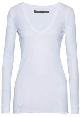 Enza Costa Slub Pima Cotton-Jersey Top