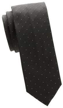 HUGO BOSS Textured Dotted Silk Tie