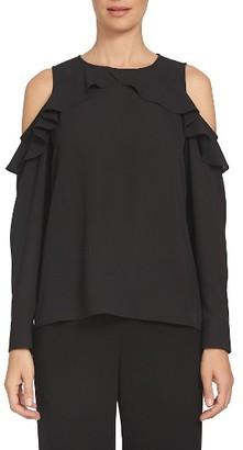 Women's Cece Ruffled Cold Shoulder Blouse $79 thestylecure.com