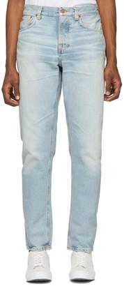 Nudie Jeans Blue Steady Eddie II Regular Tapered Fit Jeans