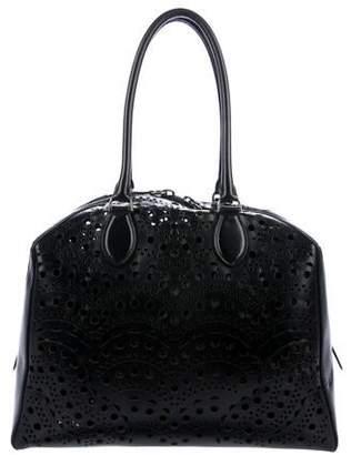 Alaia Leather Laser-Cut Tote