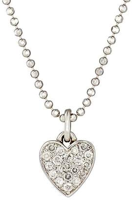 Jennifer Meyer Women's Pavé Diamond Heart Pendant Necklace