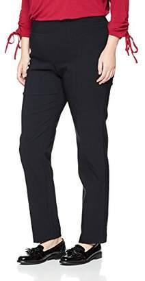 Samoon Women's Hose Freizeit Lang Trousers, Blue (Marine 800)