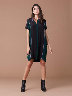 Diane von Furstenberg Short Sleeve Silk Shirt Dress
