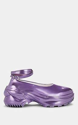 Maison Margiela Women's Metallic Leather Ankle-Wrap Sneakers - Purple