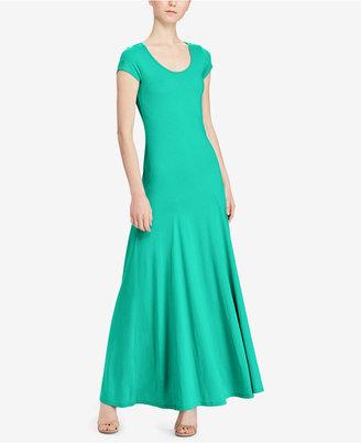 Lauren Ralph Lauren Jersey Scoop-Neck Maxi Dress $99.50 thestylecure.com