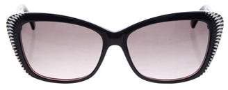 Alexander McQueen Textured Cat-Eye Sunglasses
