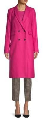 BOSS Cromina Wool Twill Long Coat