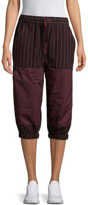 Y-3 Women's Striped Capri Pants