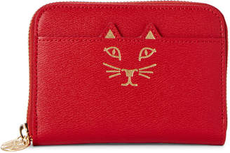 Charlotte Olympia Mini Feline Zip-Around Wallet