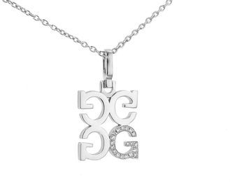 India Hicks Love Letters in Silver with Diamonds - G - Oprah's Favorite Things