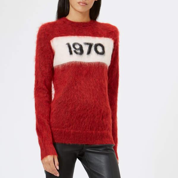 Women's 1970 Mohair Jumper Rust Red