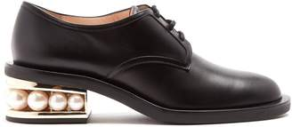 Nicholas Kirkwood Casati pearl-heeled nappa leather Derby shoes