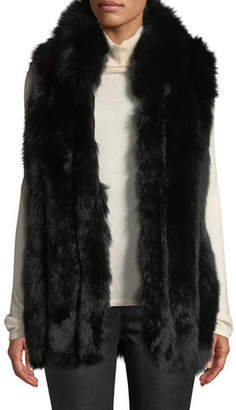 Belle Fare Long Sleeveless Fur Vest