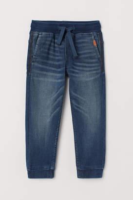 H&M Super Soft Denim Joggers - Blue